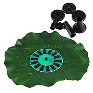 Topker Park 1.4W Energía Solar Energy Water Pump Yard Injection Water Circulation Park Funda Aspirador