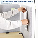 VIVO Gray Clamp-on Privacy Panel, Sound Absorbing