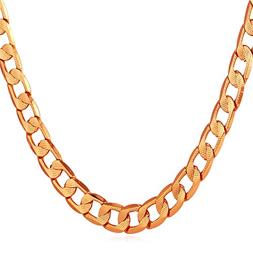 U7 Necklace Fashion Jewelry Platinum