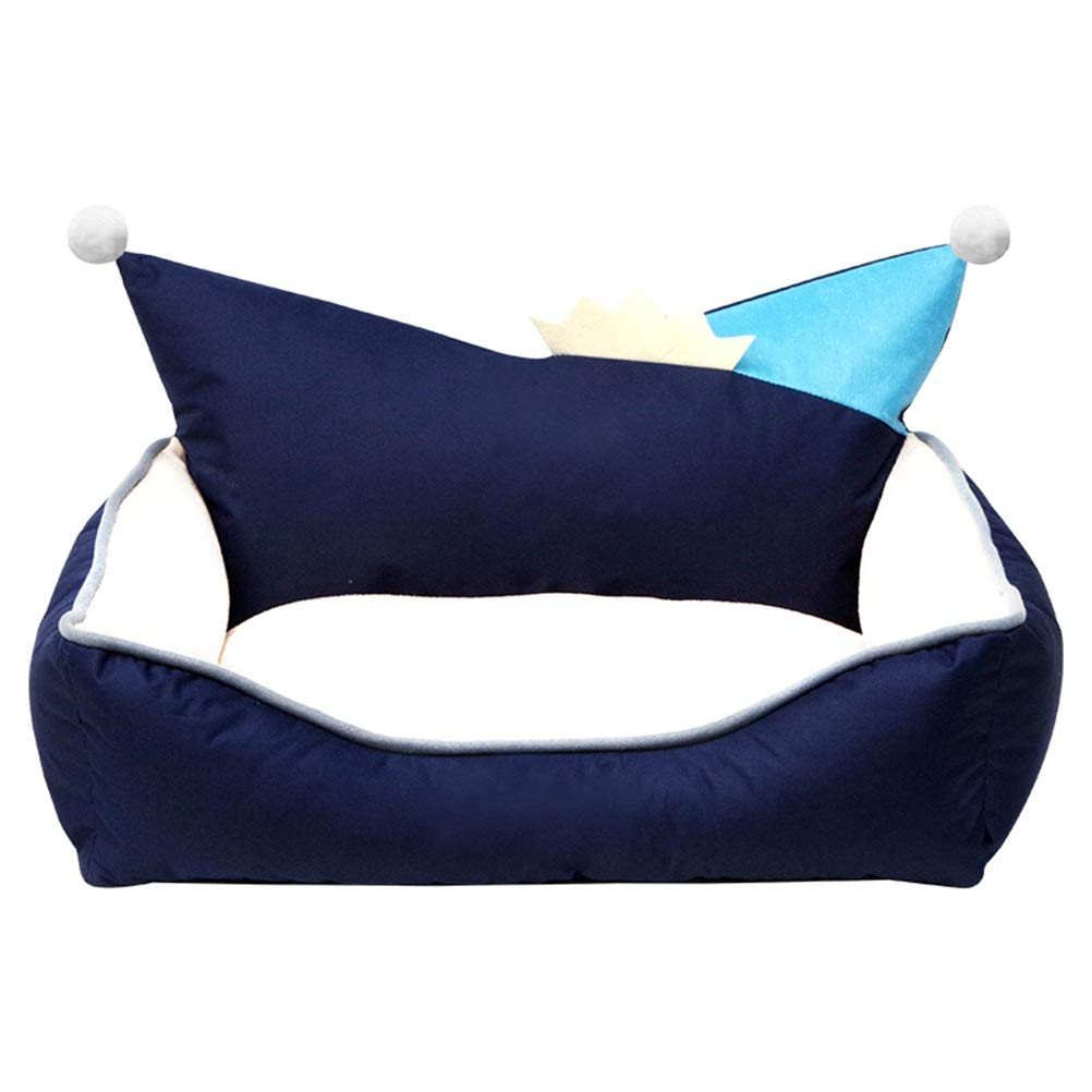 bluee SSoft and Comfortable Dog House Removable and Washable Four Seasons General Teddy Pet cat Dog cave Oxford Cloth Waterproof and Dirty Cat Toilet Small Medium Dog Dog Mattress Winter Warm
