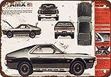 """9"""" x 12"""" Metal Sign - 1968 AMC AMX - Vintage Look Reproduction"""