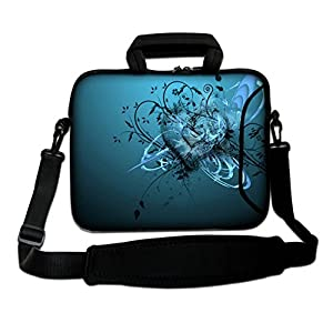 14″ Inches Design Laptop Notebook Sleeve Soft Case Bag With Handle and Shoulder Strap for Apple MacBook Air, MacBook, MacBook Pro, MacBook Pro Retina, MacBook Aluminum, Unibody, iBook, PowerBook