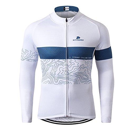 Fleece Jersey Jacket (STRGAO Men's Windproof Long Sleeves Jersey Winter Fleece Thermal Cycling Coat Bicycle Bike Jacket Size XL)