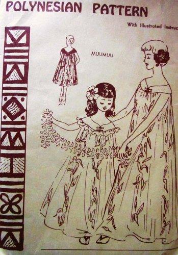 Hawaiian Muumuu Costume (Polynesian Pattern 106 Vintage Hawaiian Muu Muu Dress, 1960s/70s Vintage Sewing Pattern)