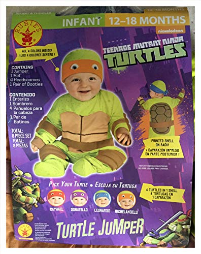 Rubie's Teenage Mutant Ninja Turtles Infant Halloween Costume 12-18 Mo -