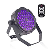 U`King Black Lights with Wireless Remote 54x2W UV LED Wash Light Glow in The Dark Party Supplies Uplighting Blacklights for Birthday Parties Body Paint Poster Stage Lighting by DMX512 Control