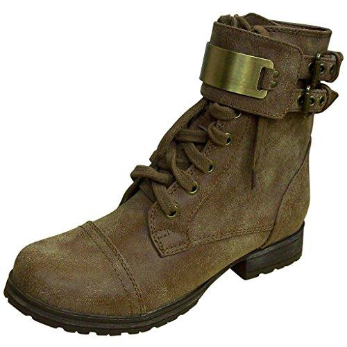 Womens Tan Biker Boots - 9
