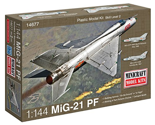 Minicraft MiG-21 USSR with 2 Marking Options Model Kit,1/144 Scale