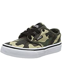 VA349PMFV Kid's Atwood Canvas Skate Shoes, Green (Textile) Camo, 2 M US Little Kid