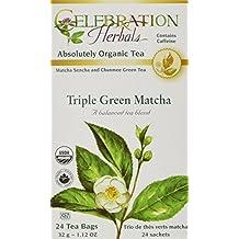 Celebration Herbals Triple Green Matcha Tea Organic 24 Tea Bag, 32Gm