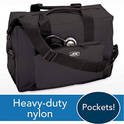 ADC 1024 Nurse/Physician Nylon Medical Equipment Instrument Bag, Black