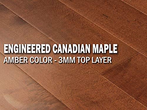 AMERIQUE Prefinished Engineered Hardwood Canadian Maple Flooring 9/16