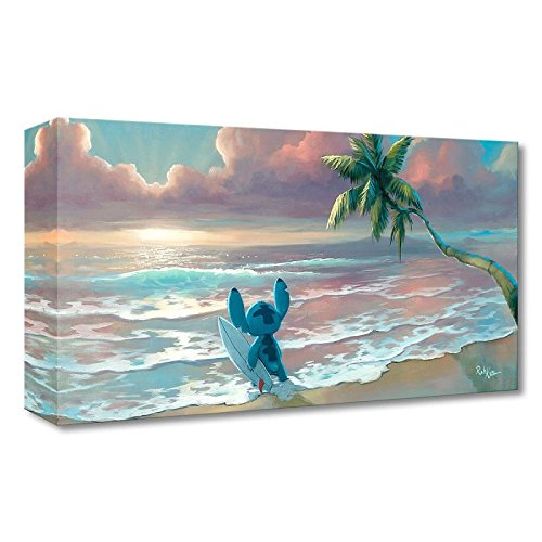 """Waiting for Waves"" Limited Edition Gallery Wrapped Canvas by Rob Kaz from the Disney Fine Art Treasures Collection; with COA."