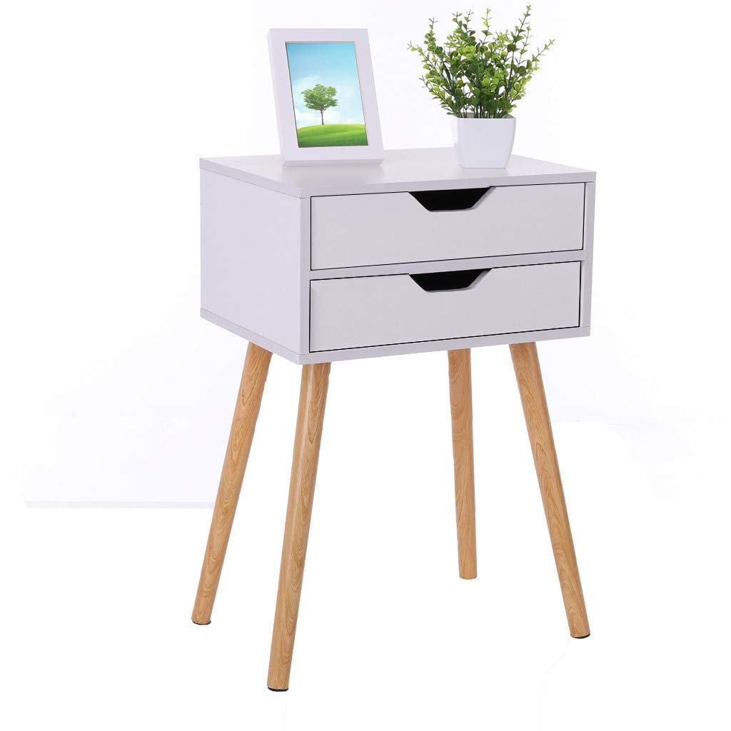 Hstore Bedside Table, Simple Modern Bed Cabinet Storage Small Cabinet Simple Assembly Locker Dormitory Bedroom Assembly Bedside Cabinet (US Stock) (A)