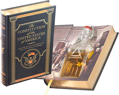 Flask Hollow Book - The Constitution of the United States of America (Leather-bound) (Magnetic Closure)