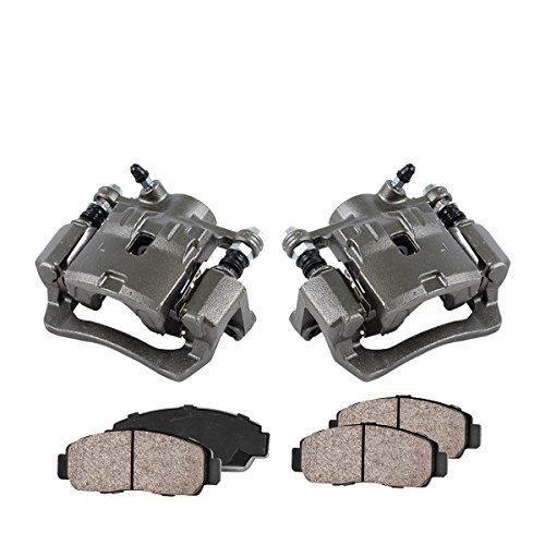 COEK00531 [2] REAR Premium Loaded OE Caliper Assembly Set + Quiet Low Dust Ceramic Brake Pads