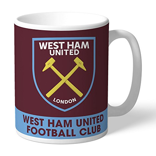 (Official Personalized West Ham United FC Bold Crest Mug - Free Personalisation)