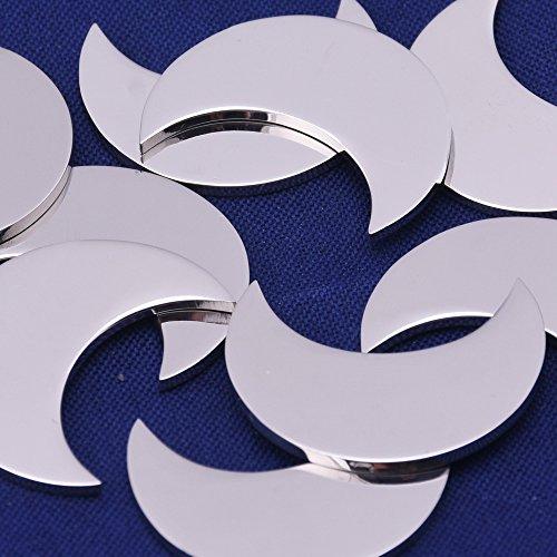 10pcs tibetara 19mm Crescent Stainless Steel Stamping Blank Tags Diy Craft Making Discs