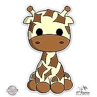 Cute Giraffe - Vinyl Sticker Waterproof Decal