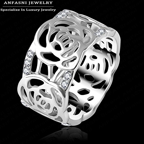 [Cherryn Jewelry Famous Superstar Ring Austrian Crystal Jewerly Rose Gold/ Platinum Plt SWA Stellux Wide Ring] (Famous Trios Costumes)