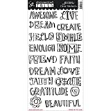Adorn-It Documented Faith Clear Stickers 6-inch x 12-inch Faith Big Words, Acrylic, Multicolour by Adornit