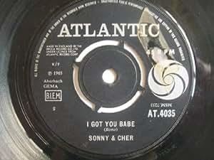 """SONNY & CHER I Got You Babe 7"""" 45"""