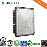 GKOLED 45W LED Canopy light,UL-Listed and DLC-Qualified,5000K Daylight White , 4200Lumen, 120-277VAC,175-200W MH/HPS/HID Replacement, IP65 Waterproof and Outdoor Rated, 5 Years Warranty