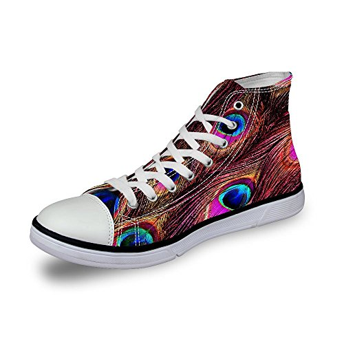 FOR U DESIGNS Cool High Top Women Mens Canvas Fashion Sneakers Lace Up Red Gpl9Dg