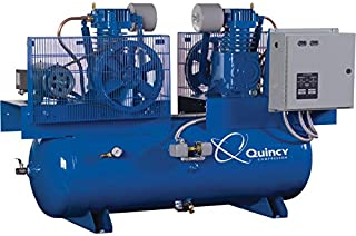 product image for Quincy Duplex Air Compressor - 7.5 HP, 230 Volt, 1 Phase, 120 Gallon Horizontal, Model Number 271CC12DC
