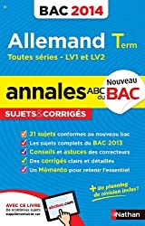ANNALES BAC 2014 ALLEMAND TERM