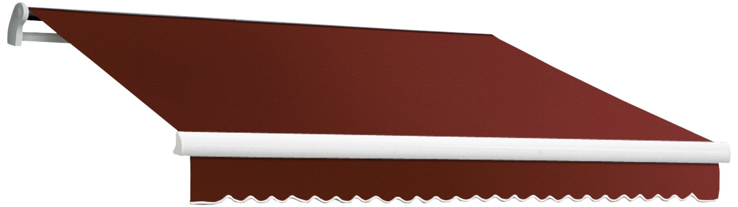 Awntech 14-Feet Maui-LX Manual Retractable Acrylic Awning, 120-Inch Projection, Terra Cotta