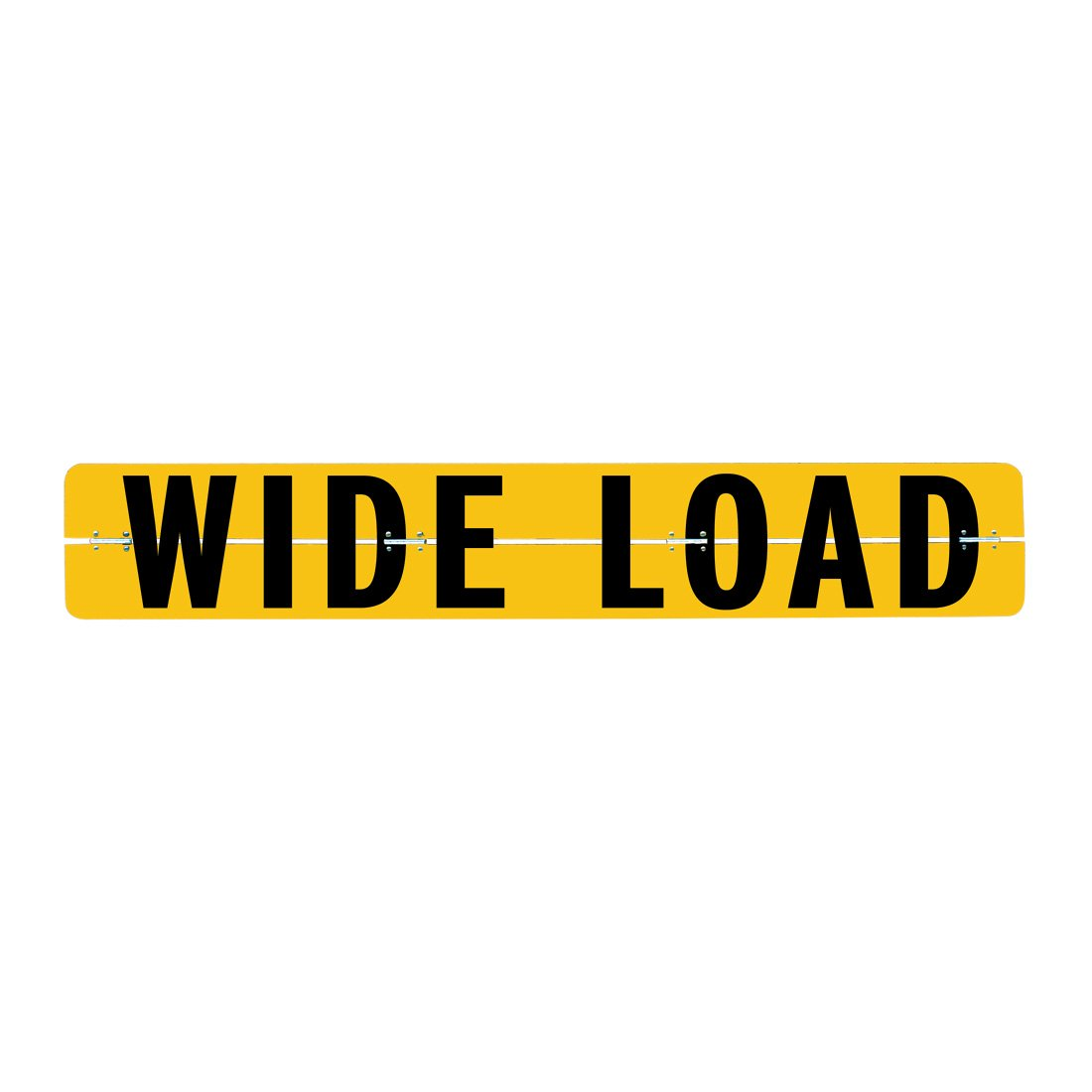 Vulcan Brands Hinged Aluminum Wide Load Sign (12'' x 72'' - For Trucks And Trailers)
