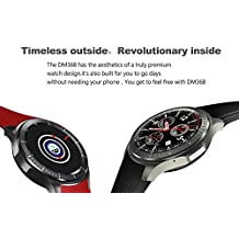 DOMINO DM368 3G Smartwatch Watch Phone- Quad-Core CPU, 1 IMEI, Bluetooth 4.0, Android OS, 3G, 8GB Storage, 400mAh Battery Wrist Phone Apps Games SIM Card Slot Browse The Web Bluetooth