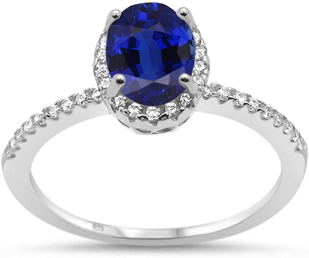 Princess Kylie Halo Set Oval Clear Cubic Zirconia Simple Bridal Ring Sterling Silver