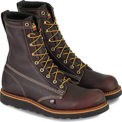 "Thorogood Men's American Heritage 8"" Round Toe, MAXWear Wedge Non-Safety Toe Boot"