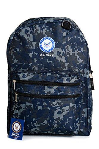 US Navy Camo Backpack Multiful Pockets