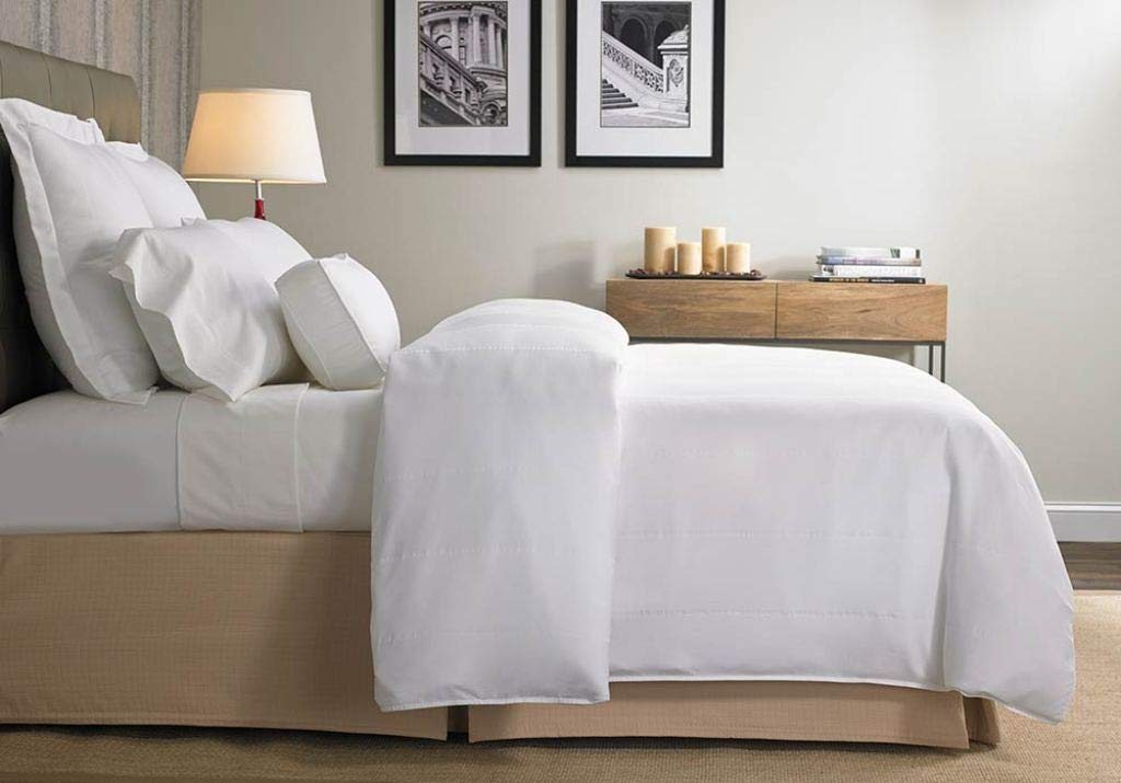 Zorificraft 1500-Thread-Count Luxxurious Hotel Collection Zipper-Closer 3-Piece Duvet Cover with Corner Ties (Expanded Queen/Olympic Queen White Solid) Premium 1500TC 100% Egyptian Cotton