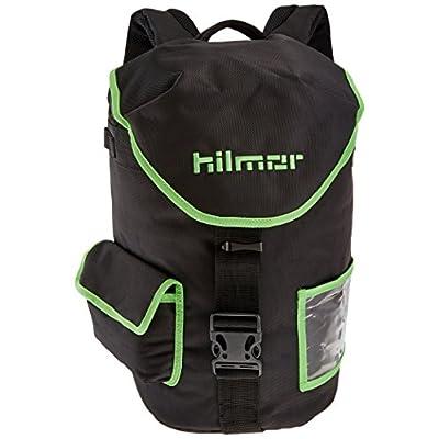 Hilmor HVAC/R Refigerant Tank & Utility Backpack with 8 Carabiner Loops & Storage Pocket, Black & Green, 1891628: Home Improvement