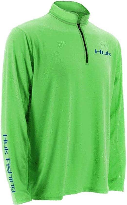 Huk Men/'s Tidewater Military Olive Drab X-Large 1//4 Zip Sweater