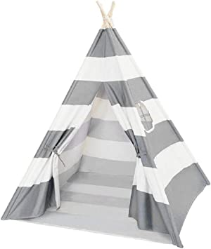 Grey/Pink & White Teepee