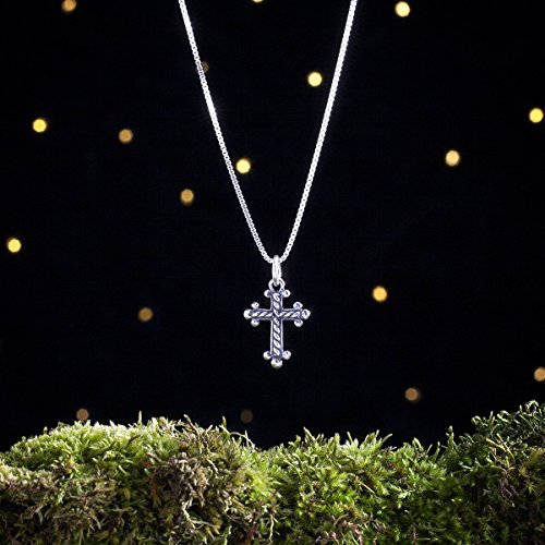 (Sterling Silver Cross - Everyday Jewelry - Small, 3D Double Sided - (Charm, Necklace, or Earrings))
