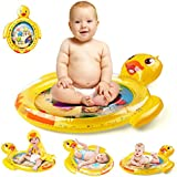 PEFECEVE Tummy Time Baby Water Play Mat, Duck Toy Mat for Infant, Baby, Toddler, Boy/Girl, Safe & Fun Activity Center for 3/6/9 Month's Newborns, BPA-Free Home Water Mat for Baby's Play & Growth