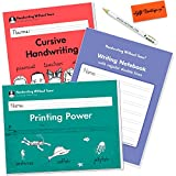 #8: Handwriting Without Tears Cursive Handwriting - Printing Power - Writing Notebook - 2nd and 3rd Grade Kit - Bonus Pencil for Little Hands, and Eraser