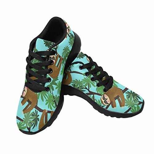 D-Story Jogging Running Sneaker Sloth Haning On Tree Womens Casual Comfort Sports Walking Running Shoes Black 0yN3qI