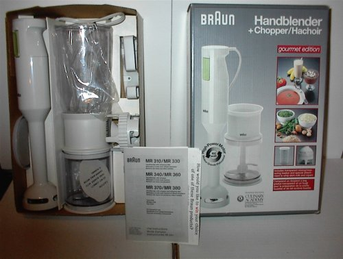 MR 380 Handblender chopper/hachoir by Braun