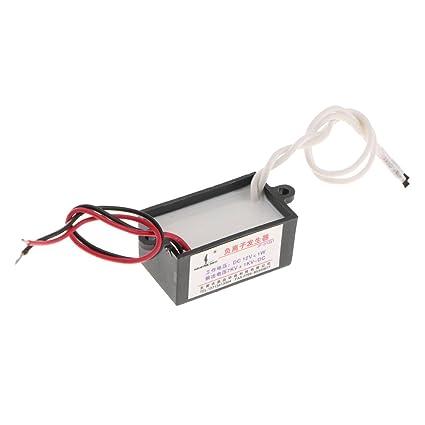 perfk Repuestos de Bricolaje de Purificador de Coche Ionizador Generador Salida Poder 12v
