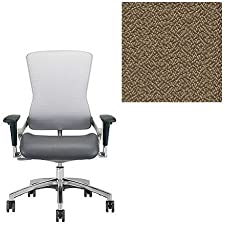 Office Master OM5 Collection OM5-GEX Ergonomic Executive Version Chair - MR5 Armrests - Grade 1 Fabric - Spice Nutmeg Brown 1163 PLUS Free Ergonomics eBook