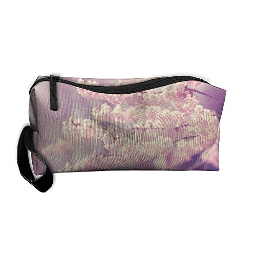 Cherry Bloom Cosmetic Bags Brush Pouch Makeup Bag Zipper Wallet Hangbag Pen Organizer Carry Case Wristlet - Times Cherry Mall Hill