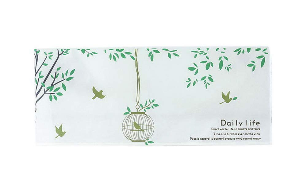 Gentle Meow Home Restaurant Dustproof Air Conditioner Cover, Bird Cage and Trees