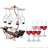European style Creative Suspended Wine bottle holder Metal Stylish [decoration] Wine shelf [household] Decoration Bar Wine display Stands gifts Wine rack-T